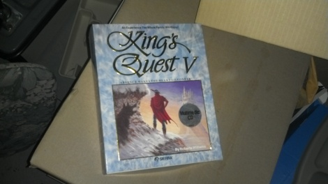 A boxed copy of King's Quest V
