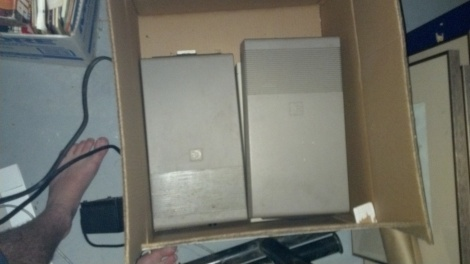 Two old disk drives