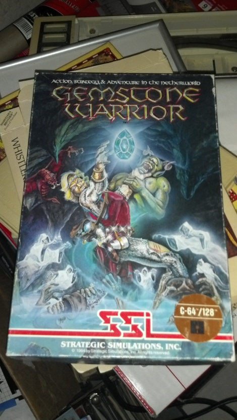 A boxed copy of Gemstone Warrior by SSI