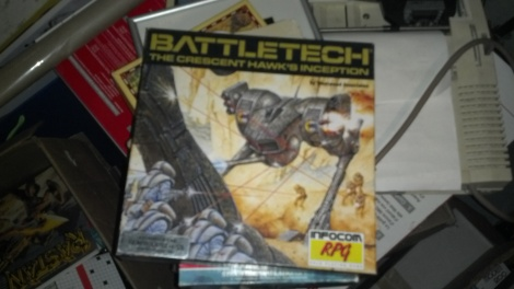 A boxed copy of Battletech: The Cresent Hawks Inception