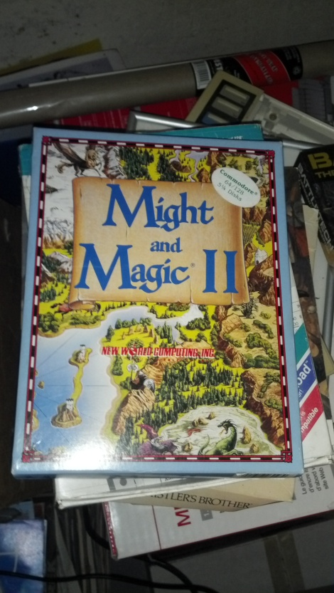 A boxed copy of Might and Magic II